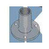 Weld Nut with Projections .750 Round Steel Plain