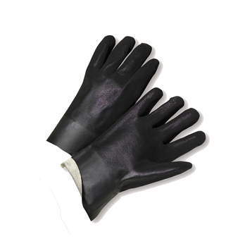 West Chester 1017RF Rough Grip Finish PVC Interlock 10 Gloves