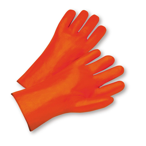 West Chester 1027OR Safety Orange Smooth PVC 12 Gauntlet
