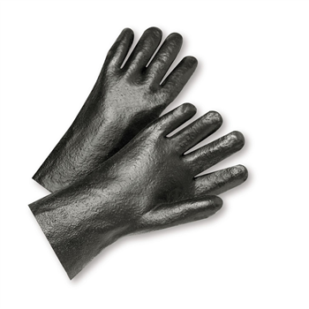 West Chester 14 Large PVC Coated Interlock Semi-Rough Finish Chemical Resistant Gloves