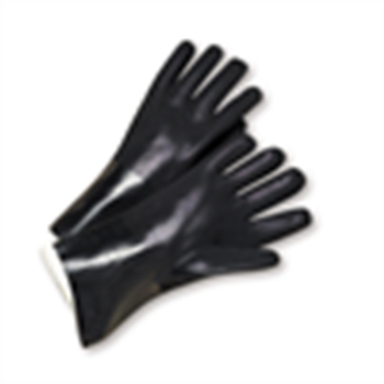 West Chester 14 Large PVC Coated Interlock Rough Finish Chemical Resistant Gloves