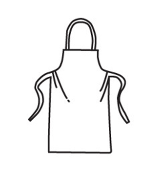 West Chester 3622 PosiBA White Apron - 28 x 36