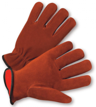 West Chester 3X-Large Fleece Lined Select Split Cowhide Leather Driver Gloves