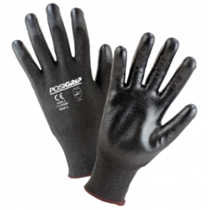 West Chester Barracuda Black Polyurethane Dipped HPPE Gloves