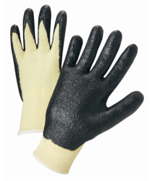 West Chester Black Nitrile Coated Kevlar®/Lycra® Cut Resistant Gloves
