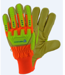 West Chester High Visibility Grain Pigskin Leather Palm Posi-Therm Gloves