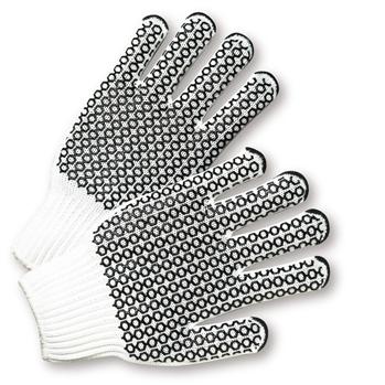 West Chester K708SKHW Black PVC Honeycomb Grip String Knit Gloves