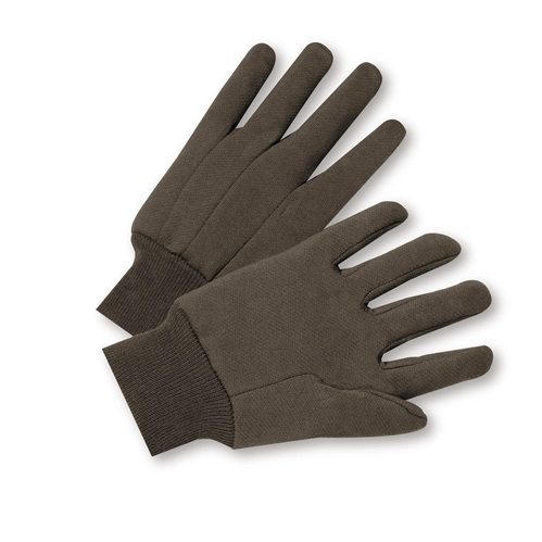 West Chester KBJ9I 100% Cotton Premium 10 oz. Brown Jersey Gloves