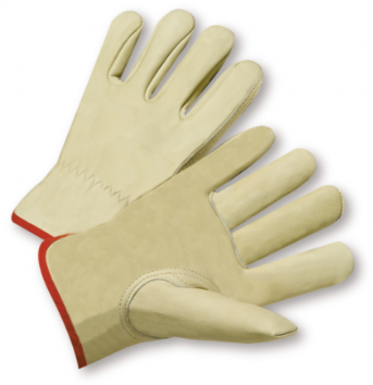 West Chester Keystone Thumb Standard Grain Cowhide Leather Driver Gloves