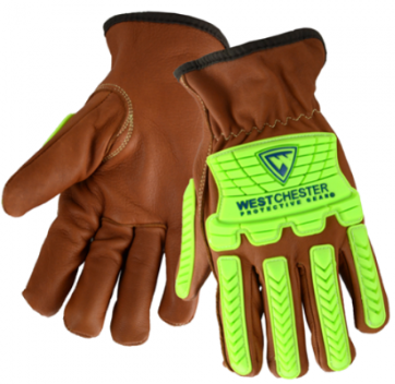 West Chester Oil Armor Goat Leather Cut Resistant Driver Gloves