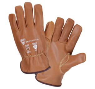 West Chester Oil Armour Premium Goat Leather Driver With Cut & Winter Lining Gloves