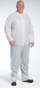 West Chester PE Laminate Hood & Boot Coverall