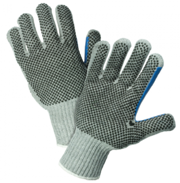 West Chester PosiGrip™ 7 Gauge Heavy Weight Dotted Grey Polyester/Cotton String Knit Gloves
