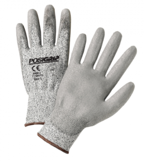 West Chester PosiGrip™ Speckle Gray HPPE Gray PU Palm Coated Touch Screen Gloves