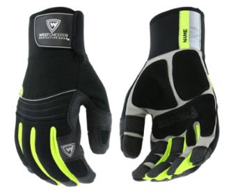 West Chester The Yeti Black Hi-Viz Waterproof High Dexterity Gloves