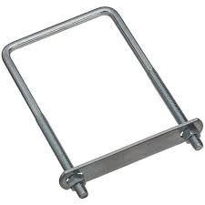 Zinc Plated Steel Square Style U Bolts with Nuts & Plate